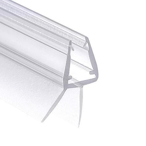 Wellba Premium Duschtür Dichtung (1x 80cm) für 5mm 6mm 7mm 8mm Glastür Stärken | Wasserabweisende Duschdichtung oder Duschkabinen-Dichtung mit optimal angeordneten Gummilippen