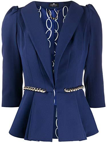 Elisabetta Franchi Luxury Fashion Donna GI94801E2Y02 Blu Blazer |