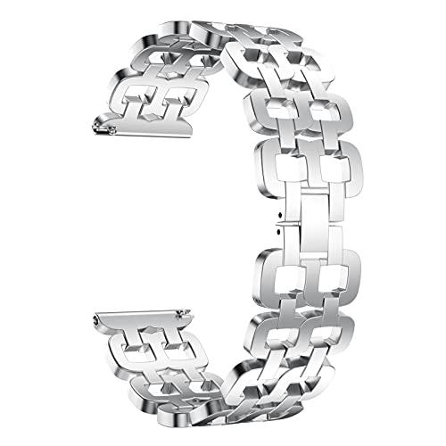 HGNZMD Correas De Repuesto De Metal Compatible con Galaxy Watch 46 Mm, Pulsera De Acero Inoxidable Correa para La Muñeca Bandas Transpirables para Hombres Compatible con Galaxy Watch 46 Mm,Plata