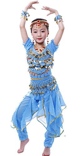 Astage Bambino Ragazza Costume Travestimento Danza Del Ventre Per Carnevale,Halloween,Cosplay S blu cielo
