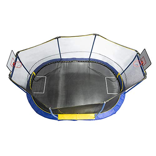 JumpKing JK1015OVBHSG 10 x 15 Foot Trampoline with Safety Net...