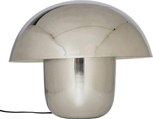 Kare Design Tischleuchte Mushrooms, Silberne Stehleuchte,, moderne Leuchte, Design Nachttischlampe in Pilzform, (HxBxT) 44x50x50cm