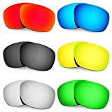 Hkuco Mens Replacement Lenses For Oakley Ten X Red/Blue/Black/24K Gold/Titanium/Emerald Green Sunglasses