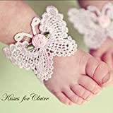helegeSONG 3Pcs/Set Toddler Girl Barefoot Sandals & Headband Flowers Baby Shoe Socks for Newborn Infant Red Sandals for Baby Girl Pink&Butterfly2