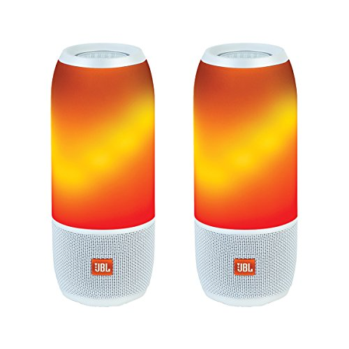 JBL Pulse 3 Portable Bluetooth Speakers - Pair (White)