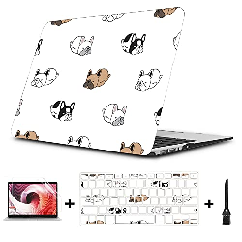 Compatible MacBook Pro Case Dog French Bulldog Print Fit MacBook Case,Compatible MacBook Pro 13'(NO CD-ROM,Retina) A1502/A1425 Plastic Case Keyboard Cover & Screen Protector & Keyboard Cleaning Brush