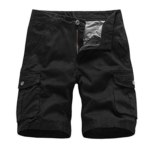 Hombre Verano Vaqueros Cortos Pantalón de Trabajo de Playa con Bolsillo de Color Puro Informal para Hombre Hombres Pantalones Cortos Hombres Gym Sports Vacaciones