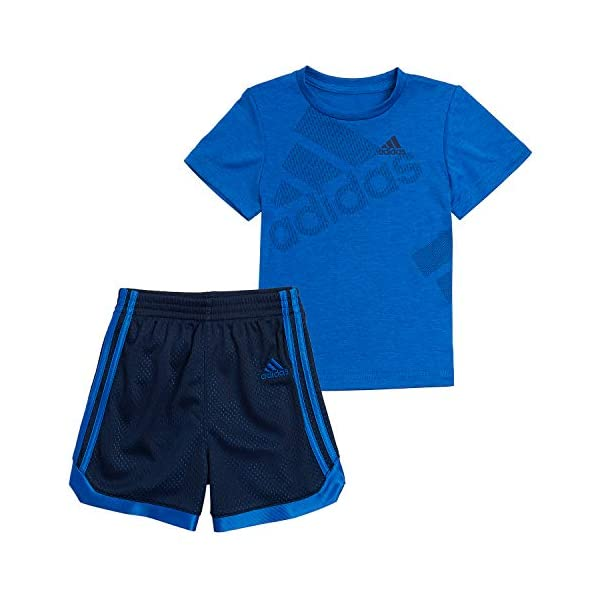 adidas Boys' Active Tee & Sport Shorts Clothing Set