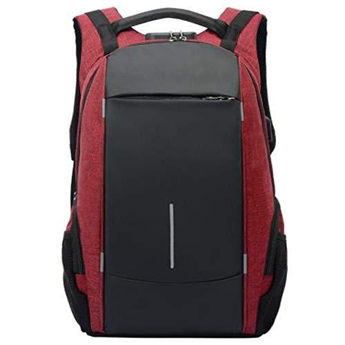 ADKYMen's Large Capacity Storage Computer Bag USB Charging Anti-Theft Password Anti-Splash Water Burden Backpack