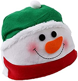 Christmas Hat Funny Cute Snowman Deer Hats Sets Non-Woven Fabric Xmas Party New Year Cospaly Decoration Gifts 20 x 28cm zh...