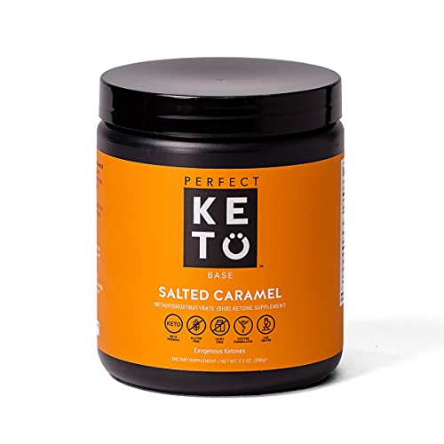 Perfect Keto Exogenous Ketones Powder, BHB Beta-Hydroxybutyrate Salts Supplement, Best Fuel for Energy Boost, Mental Performance, Mix in Shakes, Milk, Smoothie Drinks for Ketosis – Salted Caramel