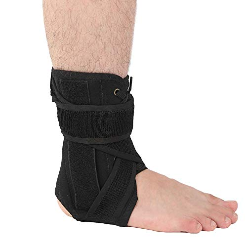Ankle Support, Lace Up Adjustable Ankle Brace Breathable Ankle Brace for Running Basketball Injury Recovery Sprain Stabiling Ligaments, Ankle Stabilizer for Men, Women and Children(L)
