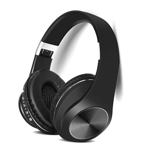 UrbanX UX991 Wireless Industry Leading Overhead Headphones with Mic for Vodafone Smart First 7 Phone Call and Audio, Black