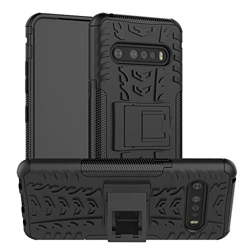 LFDZ LG V60 ThinQ 5G Hülle,Abdeckung Cover schutzhülle Tough Strong Rugged Shock Proof Heavy Duty Hülle Für LG V60 ThinQ 5G,Schwarz