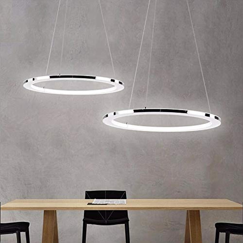 hasta 60% de descuento Modern Modern Modern LED Chandelier Living Restaurante Horario comercial Luces Araas Accesorios de iluminación Lámparas luminosas con control remoto, blancoo, 1 anillo D20CM, blancoo cálido SIN control remoto  ventas en linea
