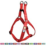 Pawtitas Solid Color Step in Dog Harness or Vest Harness Dog Training Walking of Your Puppy Harness Medium Dog Harness Red Dog Harness