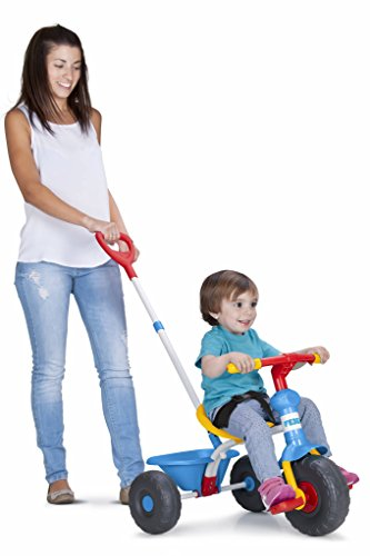 FEBER Evo Trike - Tricycle 3 en 1 pour Enfants de 1 à 3 ans, Bleu (Famosa 800010946)