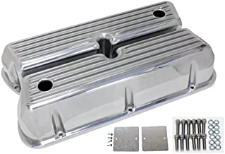 1962-85 Ford Small Block 289-302-351W-5.0L Tall Polished Aluminum Valve Covers - Full Finned