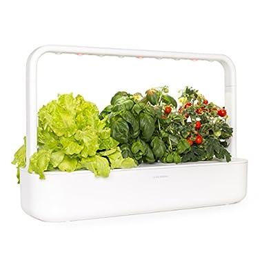 Click & Grow Smart Garden 9 Indoor Gardening Kit (Includes Plant Capsules), White