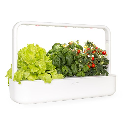 Click and Grow Smart Garden 9 Indoor Home Garden (Includes 3 Mini Tomato, 3 Basil and 3 Green Lettuce Plant pods), White
