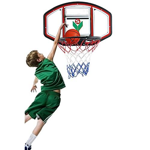 Canasta de baloncesto Aros de Baloncesto de Montaje en Pared para Barandilla Interior/al Aire Libre, Cabellera de Niños Portátiles con Gancho, Juguetes de Regalo para Niños Niñas