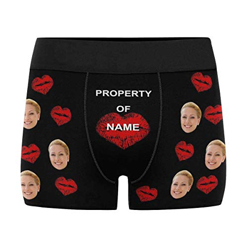 Custom Face Boxer Printed Photo Property Personalized Face Boxer Briefs Underwear for Men Boy Friends Printed with Picture