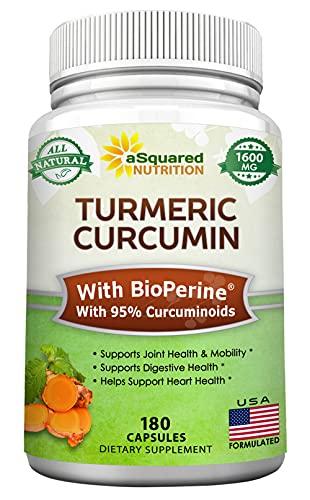 Turmeric Curcumin 1600mg with BioPe…