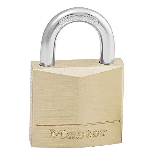 Master Lock 130EURD Cadenas à Clé en Laiton, Doré, 4,9 x 3 x 1,2 cm