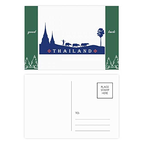 Kingdom of Thailand Zollkultur-Postkarten-Set, Glücksbringer, 20 Stück