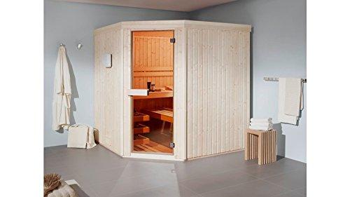 HELO FAMILY Sauna Kivi 1, mit Infrarot, 168/168/200 cm, 6-kW-Ofen mit ext. Steuerung