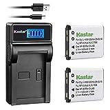 Kastar Battery (X2) + Slim LCD Charger for Nikon EN-EL10 MH-63 and Nikon Coolpix S60, S80, S200, S210, S220, S230, S500, S510, S520, S570, S600, S700, S3000, S4000, S5100 + More Camera