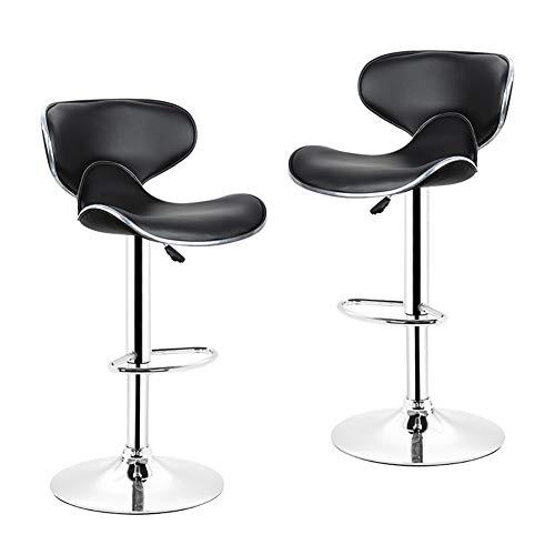 XQAQX kruk 1 para pu leer vlinder rugleuning stoel barkruk gas lift in hoogte verstelbaar draaibare keuken bar stoel stool
