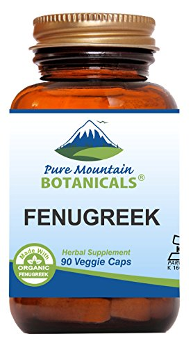 Fenugreek Capsules - 90 Kosher Vegan Caps - Now with 575mg Organic Fenugreek Seed Powder