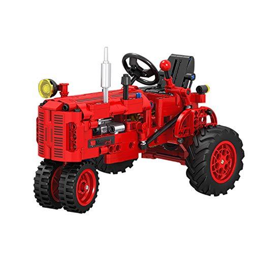 Modelo De Coche,Ciudad Clásico Tractor Viejo Bloque Hueco del Coche para Técnicos De Bricolaje Motocultor Camiones Ladrillo Juguetes Educativos para Niños