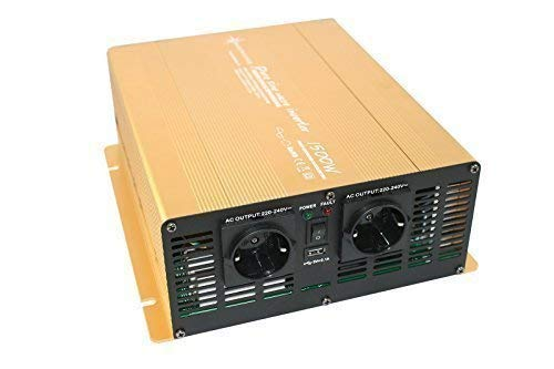 Spannungswandler 24V 1500 3000 Watt reiner SINUS Power USB 2.1A Gold...