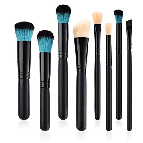 Posional Pinceaux de Maquillage Ensemble, 8PCS Set/Kit Sourcils Eyeliner Anticernes Premium Coloré Maquillage Kit de Toilette pour Fusion de Fond de Teint Concealer Yeux