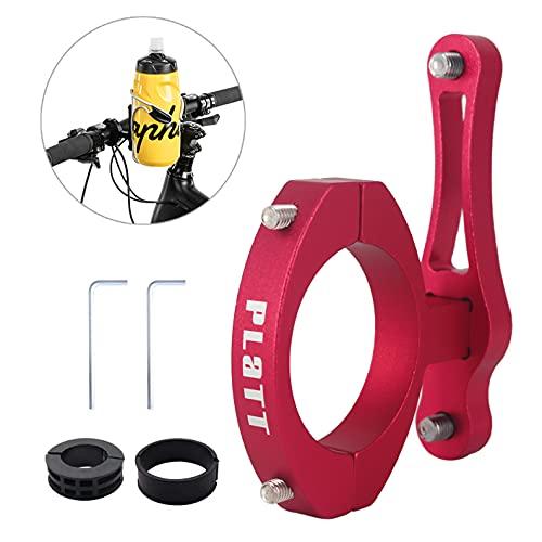 PLATT Bicicletta Supporto Adattatore per Portaborraccia , Supporto per MTB Gabbia in Alluminio, Facile da Installare Adattatore Bici Morsetto su Manubrio Reggisella