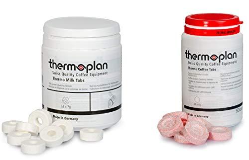 Thermoplan   Black & White 4 C Tab Set   Reinigungsset für drei Monate   3 Dosen Thermo Milk Tabs + 3 Dosen Thermo Kaffee Tablets