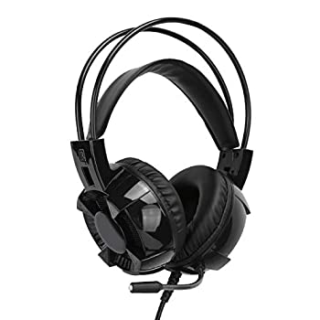 DAUERHAFT Headset 7.1 Surround Sound RGB Lights Lightweight Game Headset Noise‑Cancelling for Gaming