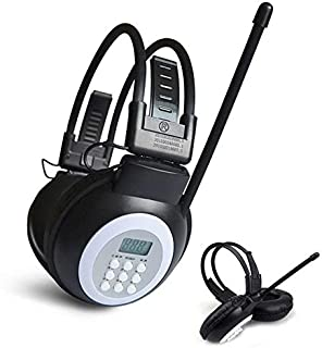 Digital Media Players HRD-308S Portable FM Campus Radio Receiver Headset(Black) (Color : Black)