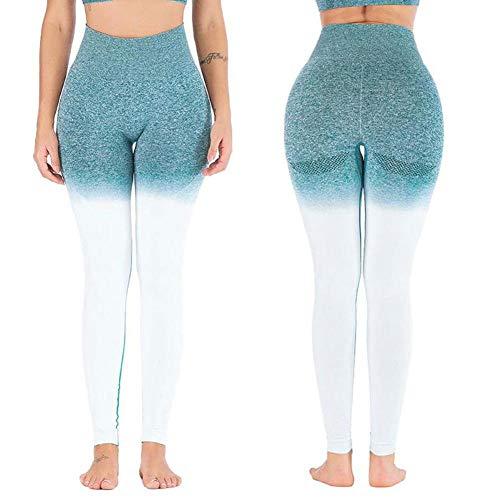 Opprxg Energy Leggings sin Costuras Pantalones de Yoga de Cintura Alta Fitness Gym Leggings Twist Hip Butt Leggings gradiente Deportes Yoga Leggings
