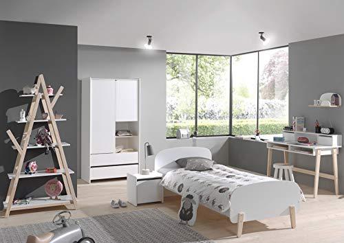 Vipack Bibliothque Design Kiddy 80cm Naturel Blanc