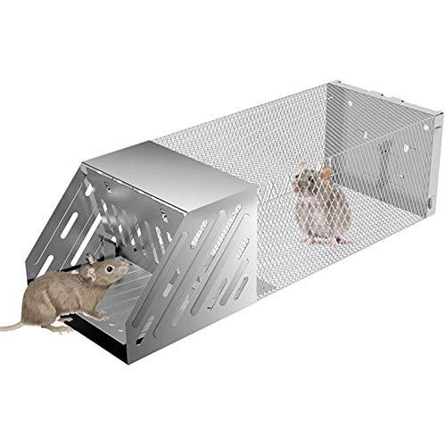 JJSFJH Trampa casa del ratón, ratón Humane Vivo Jaula Trampa for Ratones, Ratas, coger uno y desbloqueo, Humane ratón Trampas, fácil de configurar, Reutilizable