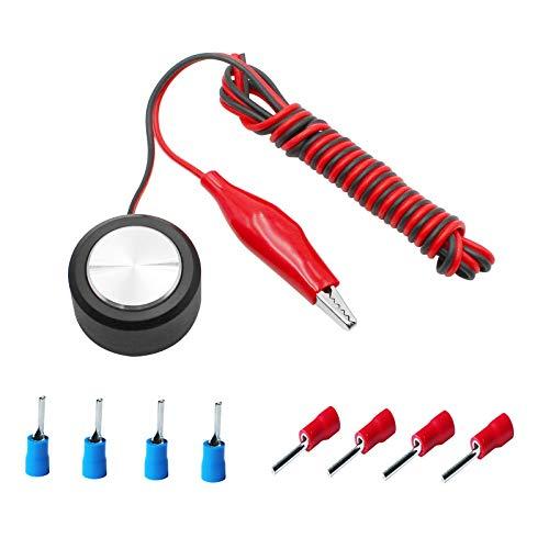 JustYit CNC Touch Plate Z Achsen Fräser Werkzeug Einstellungssonde DIY Gravur Werkzeuge mit Stecker, Fräsen CNC Graviermaschine Auto Check Instrument Einstellungssonde