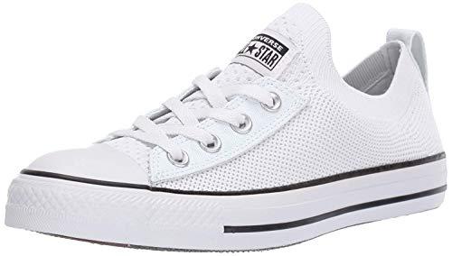 Converse Women's Chuck Taylor All Star Shoreline Knit Slip On Sneaker, White/Black/White, 9.5 M US