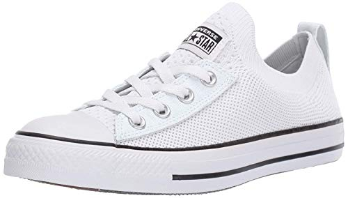 Converse Women's Chuck Taylor All Star Shoreline Knit Slip On Sneaker, White/Black/White, 9 M US