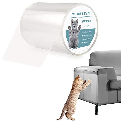 Pidsen Protector de Muebles Gatos, 15X100 CM Nano Cinta Adhesiva Anti Arañazos para Gatos,Transparente Autoadhesivas de Gato Protector para Gatos y Perro,Protector de sofá para Detener