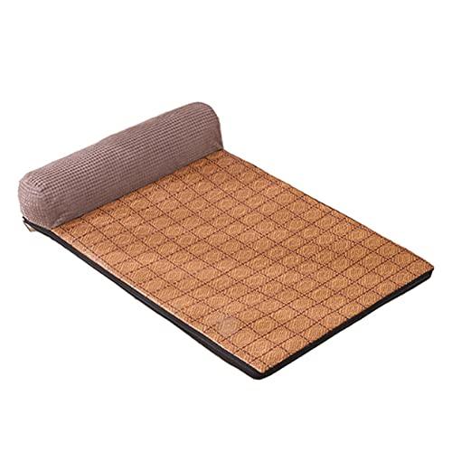 Augneveres Katzen-Spielmatte Abnehmbare und waschbare, nicht klebende, haarkühlende Schlafunterlage für zwei Zwecke kind