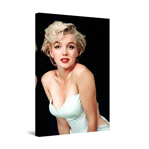 Startonight Cuadro Moderno en Lienzo Marilyn Monroe - La Mujer Más Hermosa del Mundo, Pintura Moderna Para Salon Decoración 60 x 90 cm