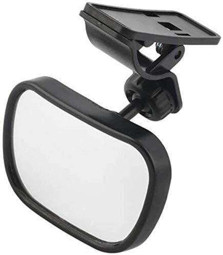 Asiento de coche con espejo interior de visión trasera de plástico ajustable universal 2 en 1 para seguridad de bebé y niño con clip y ventosa